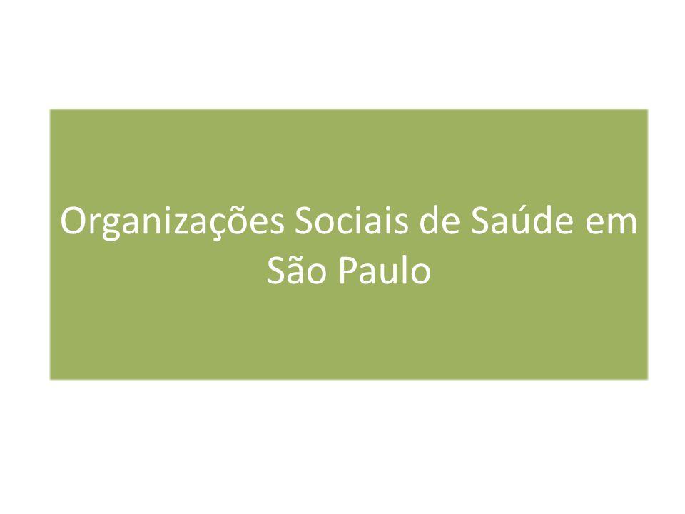 Organizações Sociais de Saúde em São Paulo