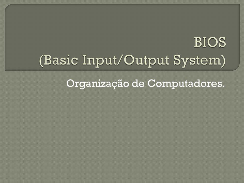 Organização de Computadores.