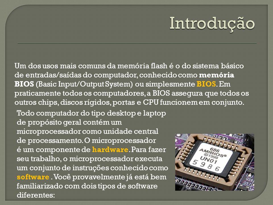 Um dos usos mais comuns da memória flash é o do sistema básico de entradas/saídas do computador, conhecido como memória BIOS (Basic Input/Output System) ou simplesmente BIOS.