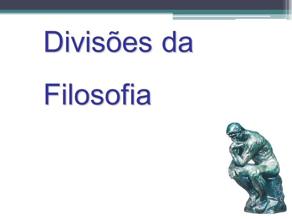 Divisões da Filosofia