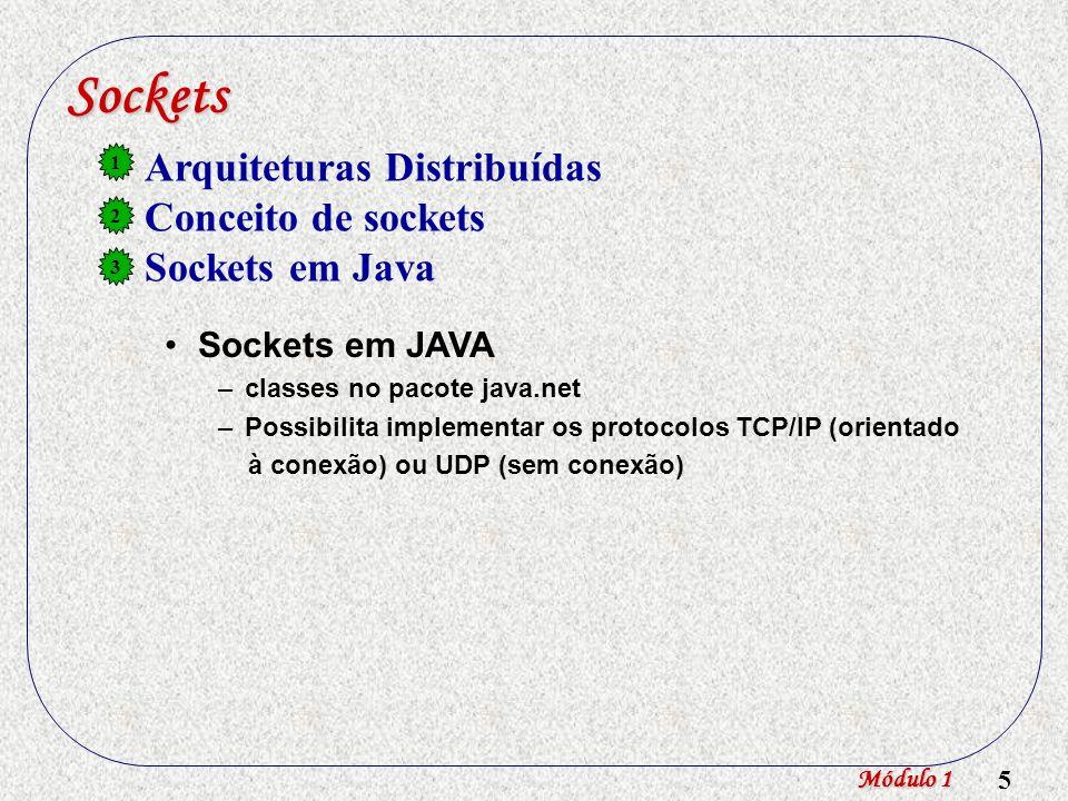 6 Sockets em Java Servidor ServerSocket (núm.