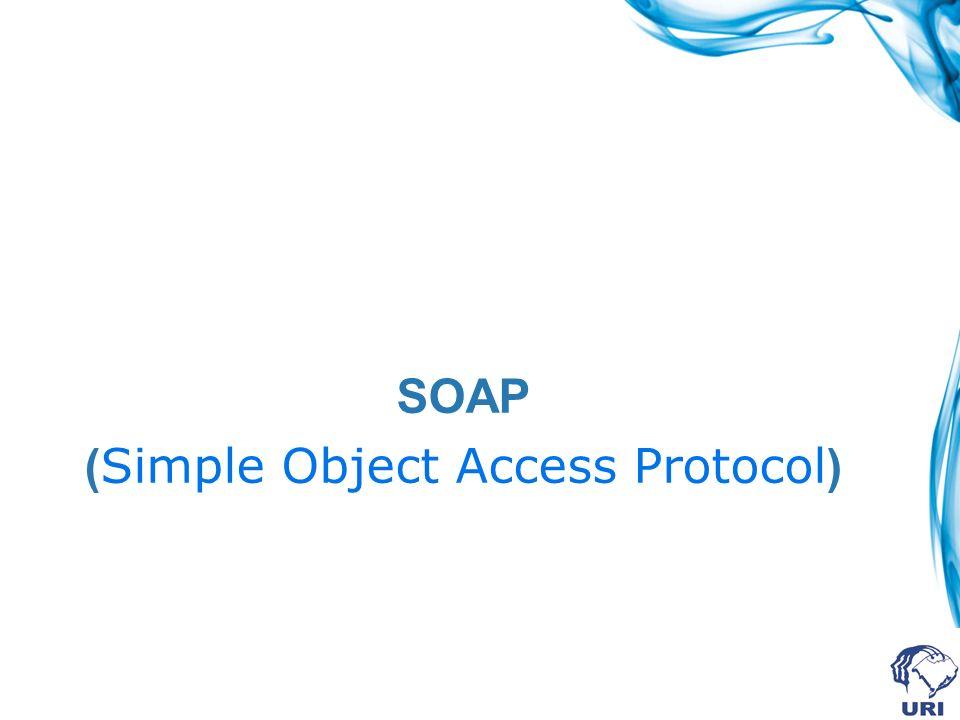 POST /InStock HTTP/1.1 Host: www.stock.org Content-Type: application/soap+xml; charset=utf-8 Content-Length: nnn IBM </soap:Envelope Exemplo de uma requisição Ligação SOAP + HTTP