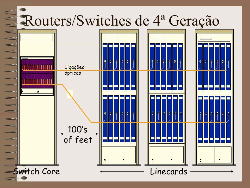 Separação física entre o núcleo de comutação e as cartas de linha Distribui energia por vários armários.