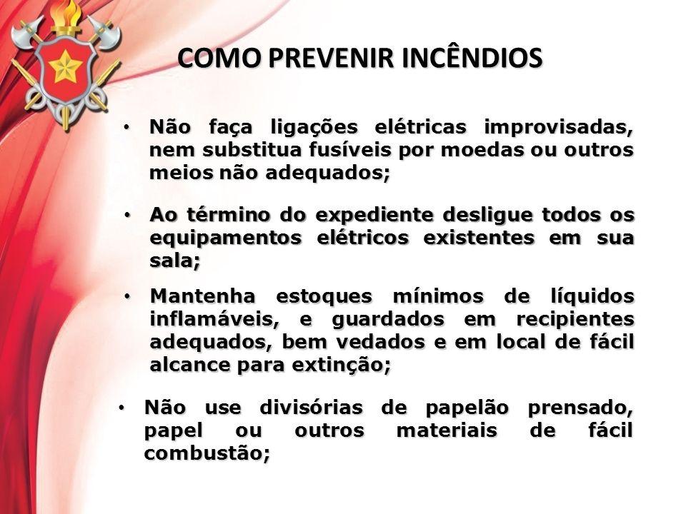 Não faça ligações elétricas improvisadas, nem substitua fusíveis por moedas ou outros meios não adequados; Não faça ligações elétricas improvisadas, n