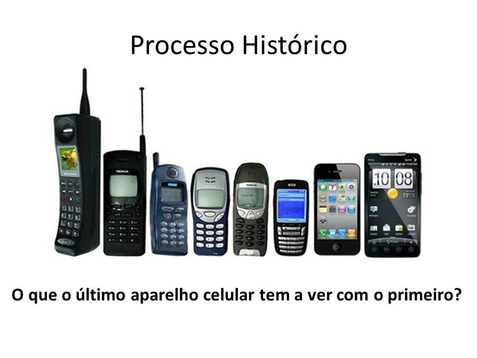 Processo Histórico O que o último aparelho celular tem a ver com o primeiro?