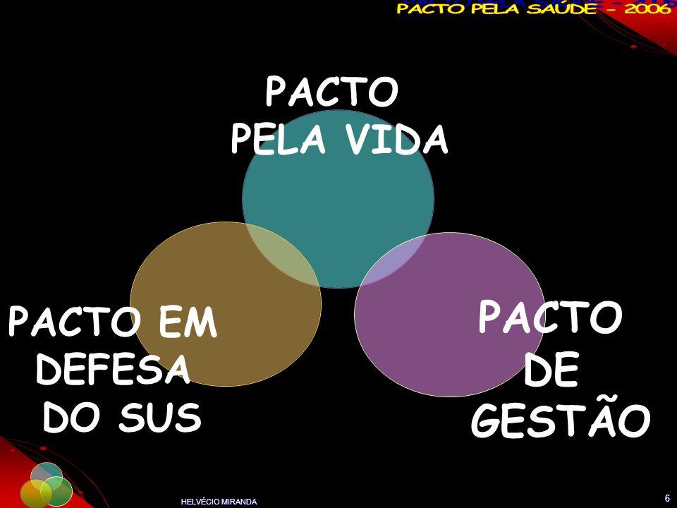 HELVÉCIO MIRANDA 6 PACTO PELA VIDA PACTO DE GESTÃO PACTO EM DEFESA DO SUS