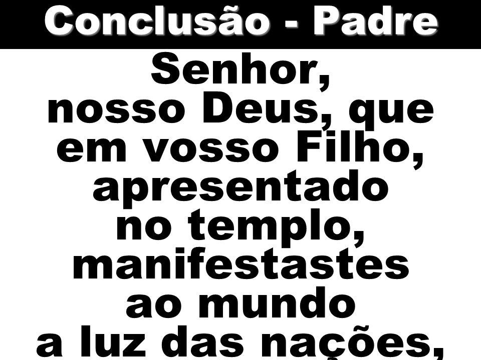 Senhor, nosso Deus, que em vosso Filho, apresentado no templo, manifestastes ao mundo a luz das nações, Conclusão - Padre