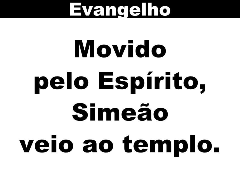 Movido pelo Espírito, Simeão veio ao templo. Evangelho