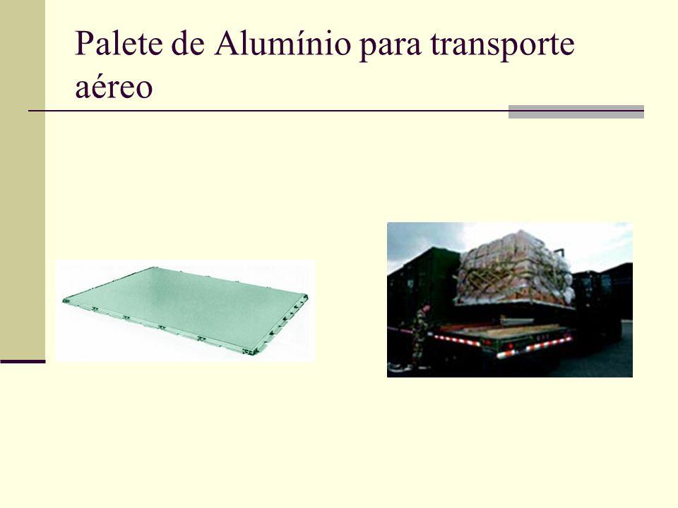 Palete de Alumínio para transporte aéreo