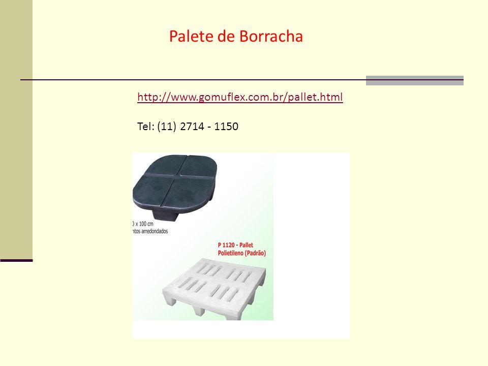 Palete de Borracha http://www.gomuflex.com.br/pallet.html Tel: (11) 2714 - 1150