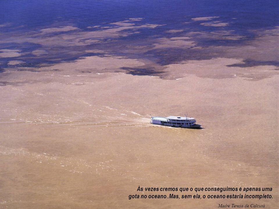FONTE: Às vezes cremos que o que conseguimos é apenas uma gota no oceano.Mas, sem ela, o oceano estaria incompleto. Madre Teresa de Calcutá
