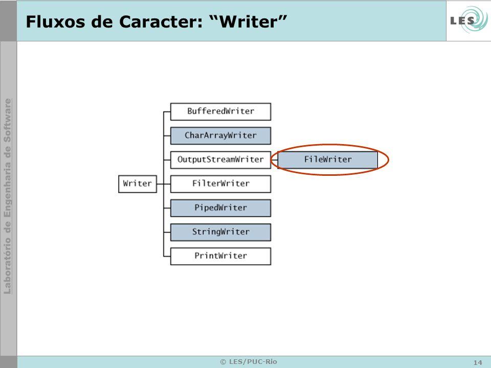 14 © LES/PUC-Rio Fluxos de Caracter: Writer