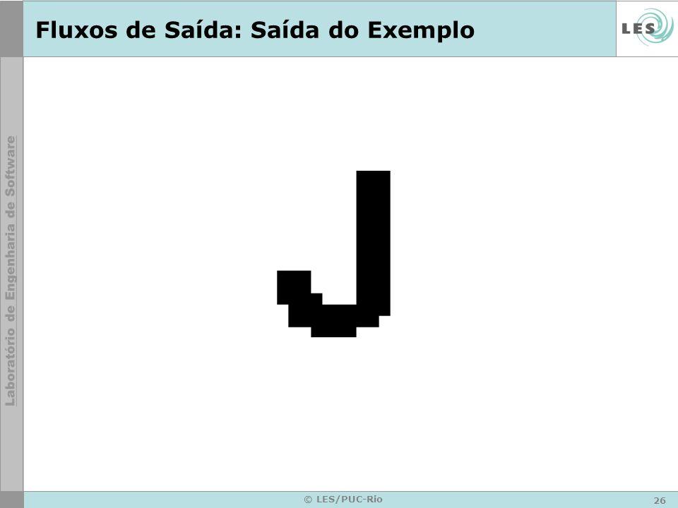 26 © LES/PUC-Rio Fluxos de Saída: Saída do Exemplo