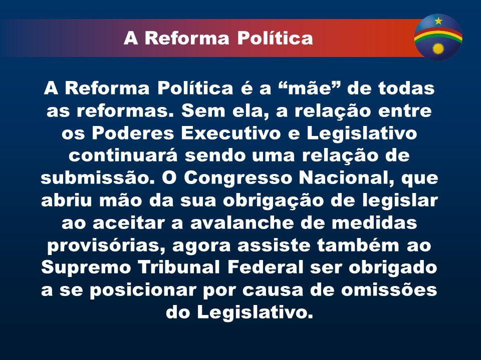 A Reforma Política A Reforma Política é a mãe de todas as reformas.