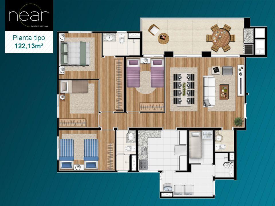 Suite Casal Com closet independente Shaft visitável Gradil de ferro possibilitando maior Iluminação e ventilação Madeira certificada para as portas (F