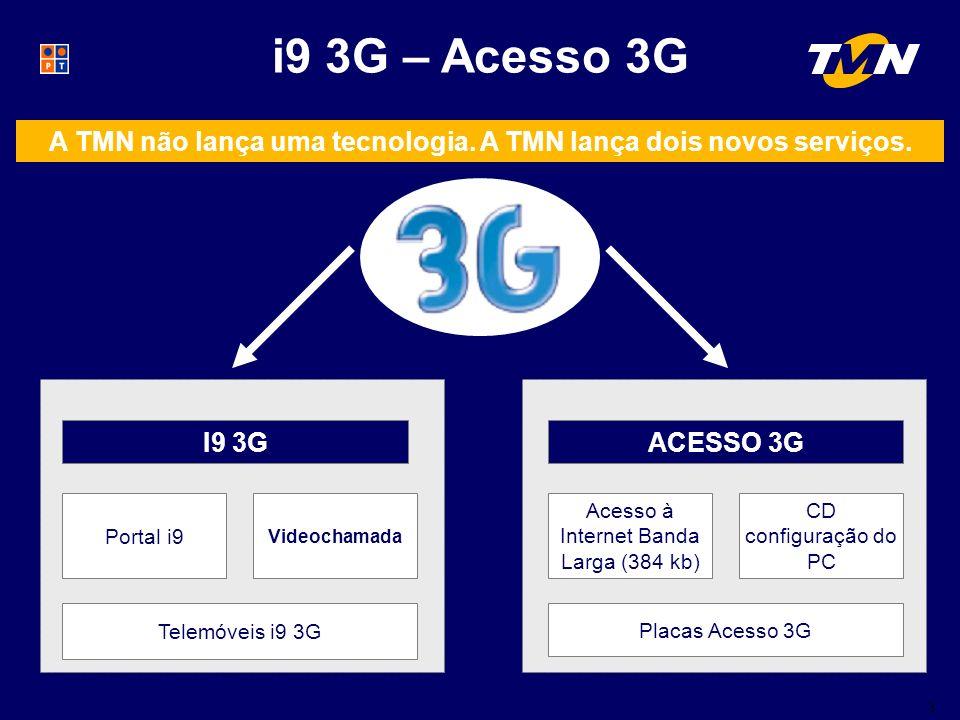 3 i9 3G – Acesso 3G A TMN não lança uma tecnologia.