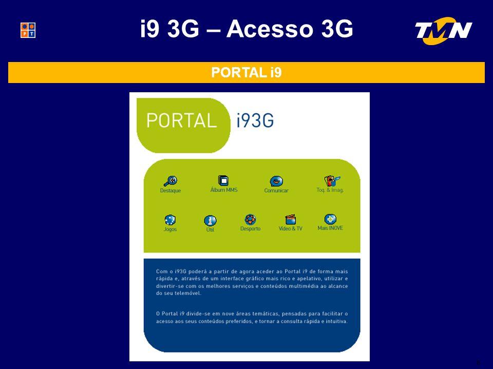 8 i9 3G – Acesso 3G PORTAL i9