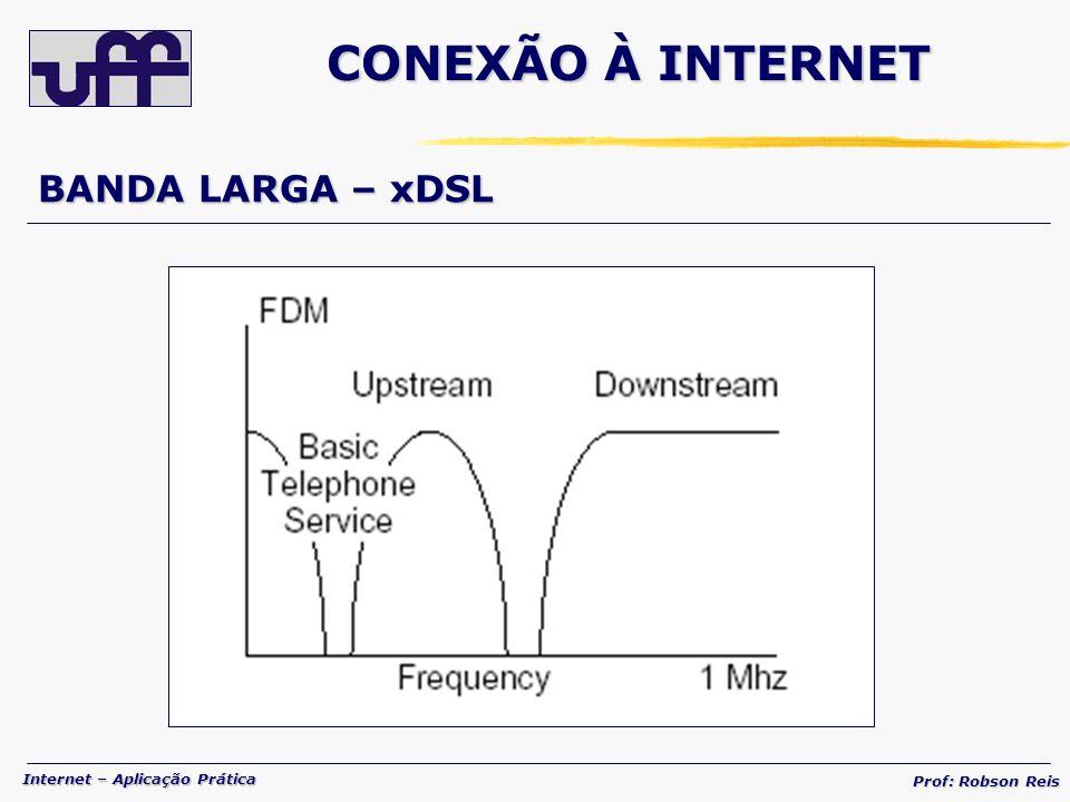 Internet – Aplicação Prática Prof: Robson Reis BANDA LARGA – xDSL CONEXÃO À INTERNET