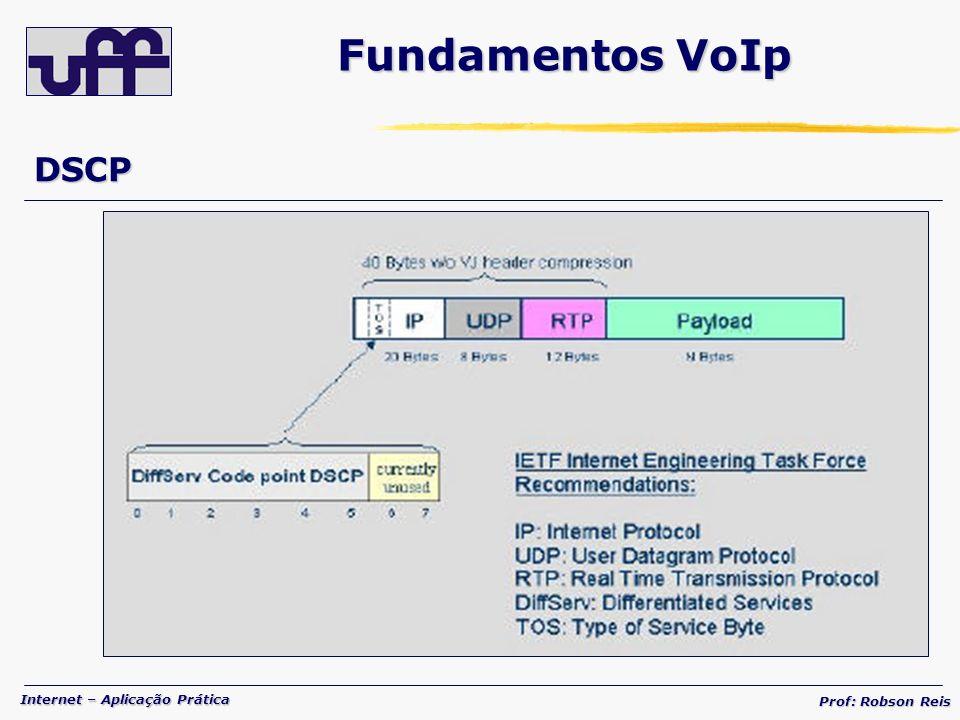 Internet – Aplicação Prática Prof: Robson Reis DSCP Fundamentos VoIp