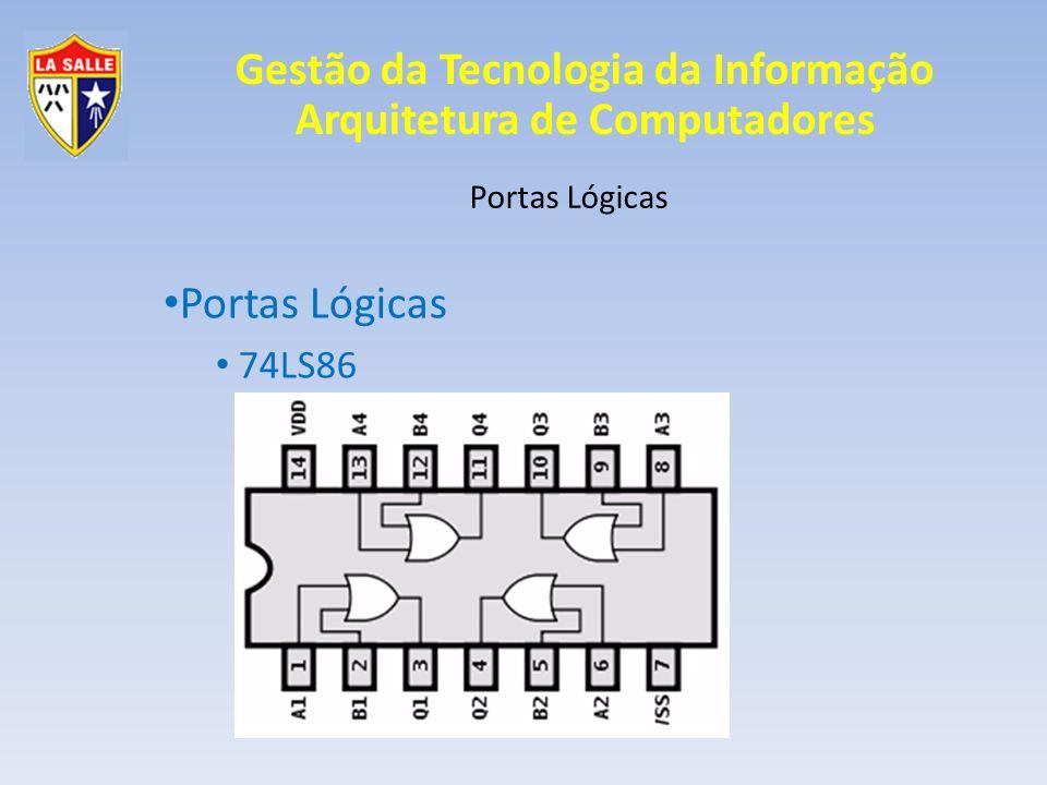 Gestão da Tecnologia da Informação Arquitetura de Computadores Portas Lógicas 74LS86