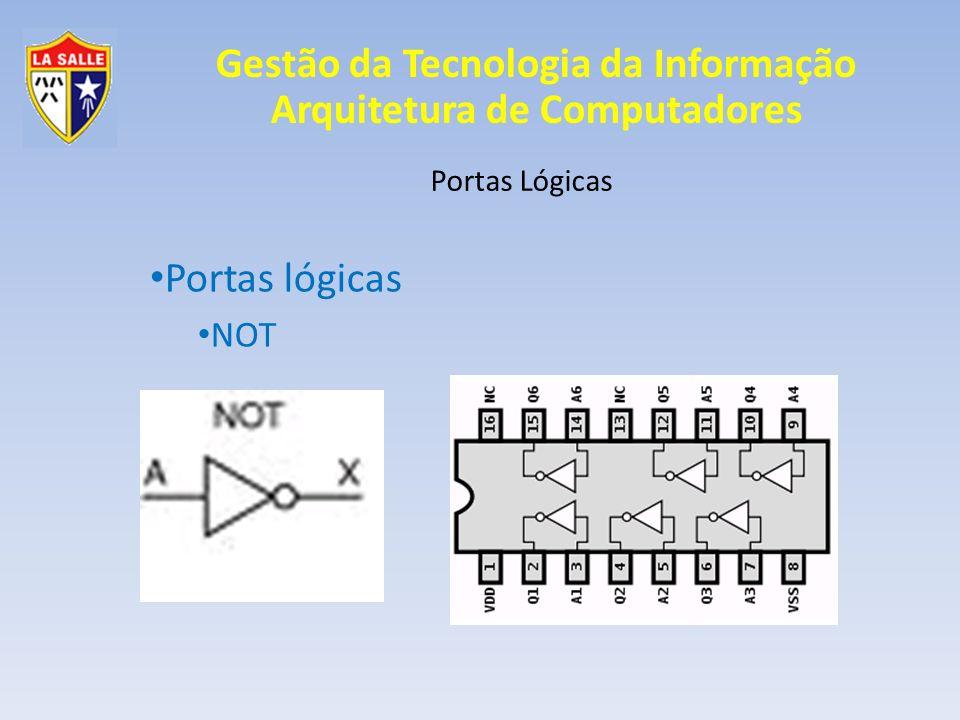 Gestão da Tecnologia da Informação Arquitetura de Computadores Portas Lógicas Portas lógicas XOR