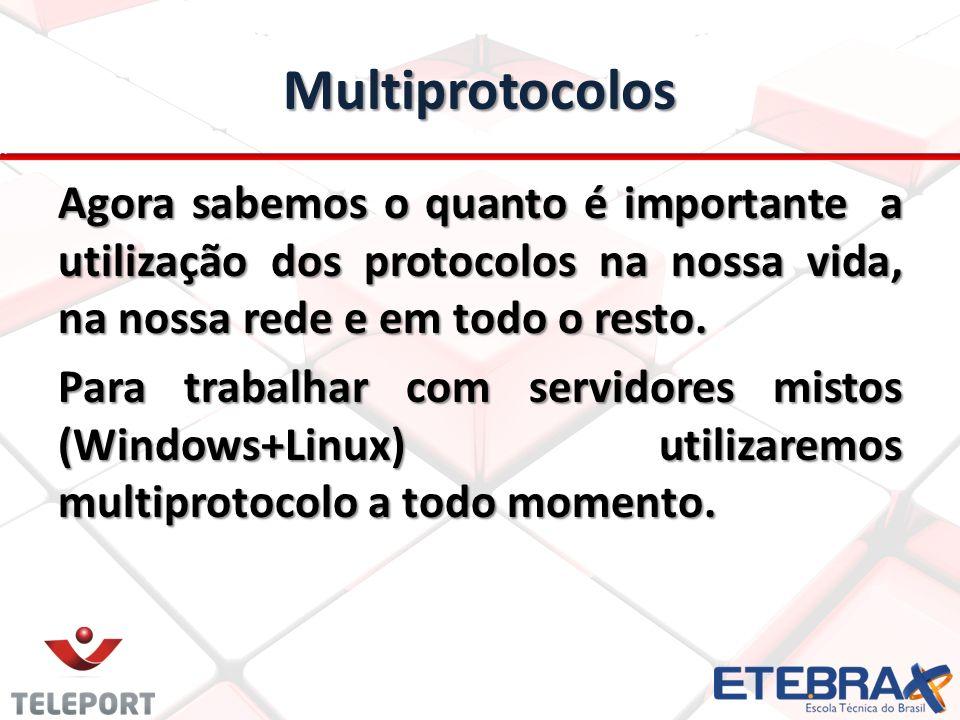 Multiprotocolos Agora sabemos o quanto é importante a utilização dos protocolos na nossa vida, na nossa rede e em todo o resto.