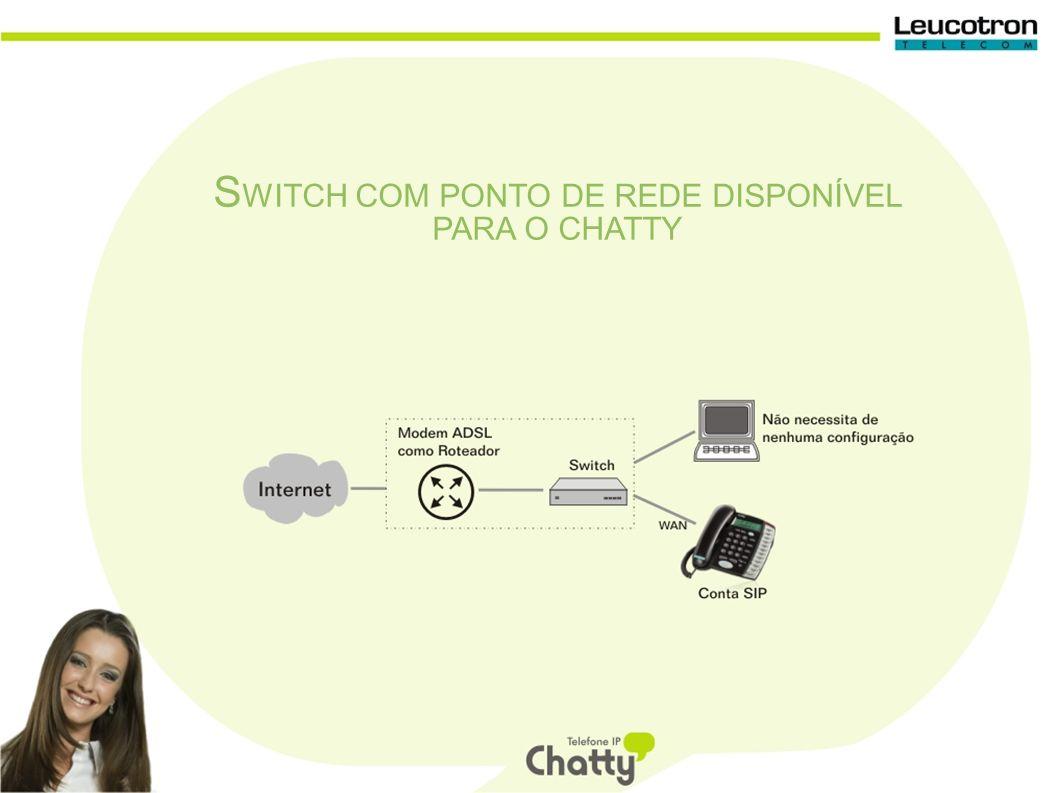 S WITCH COM PONTO DE REDE DISPONÍVEL PARA O CHATTY