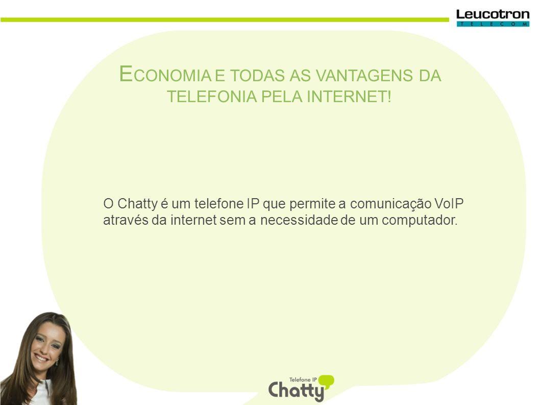 Com o Chatty você faz qualquer tipo de ligação a partir da telefonia IP e fala com a comodidade de um telefone comum.