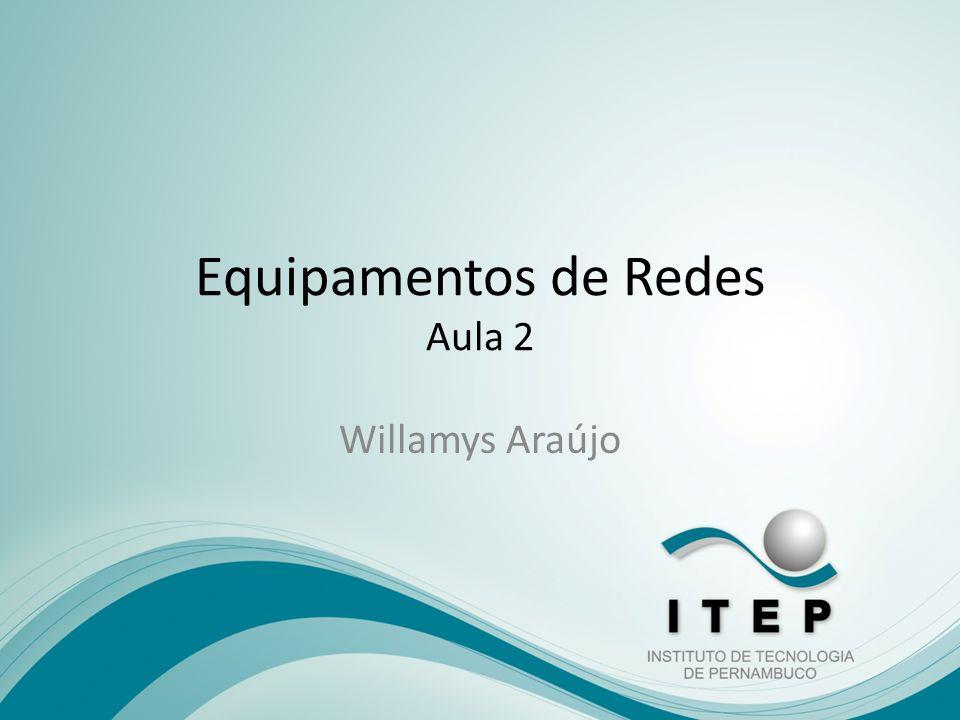 Equipamentos de Redes Aula 2 Willamys Araújo
