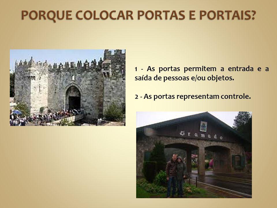 1 - As portas permitem a entrada e a saída de pessoas e/ou objetos.
