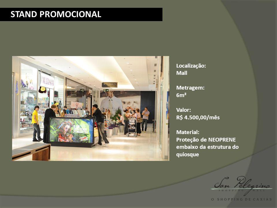 Localização: Estacionamento aberto – 3º andar Metragem: 3000m² Valor: R$ 23.500,00/final de semana FEIRAS