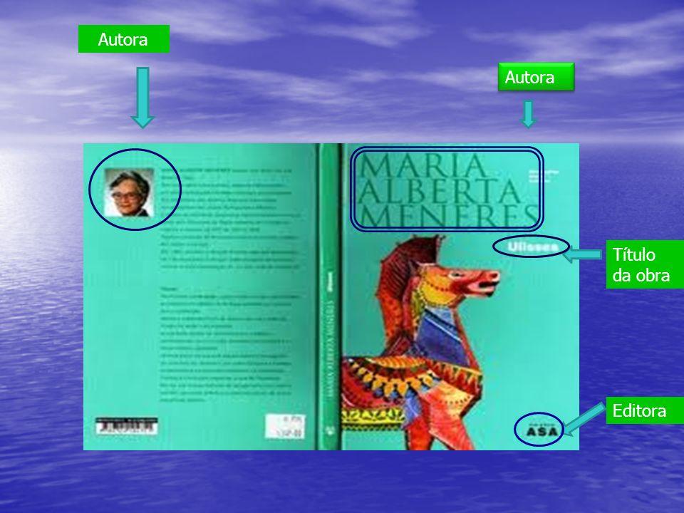 Autora Autora Título da obra Editora