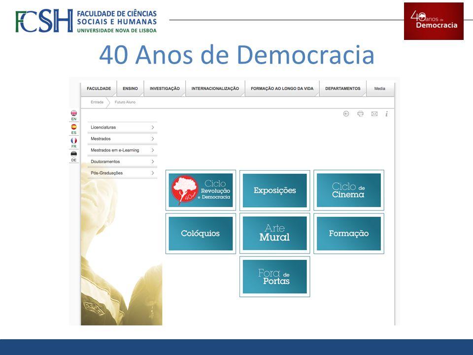 40 Anos de Democracia