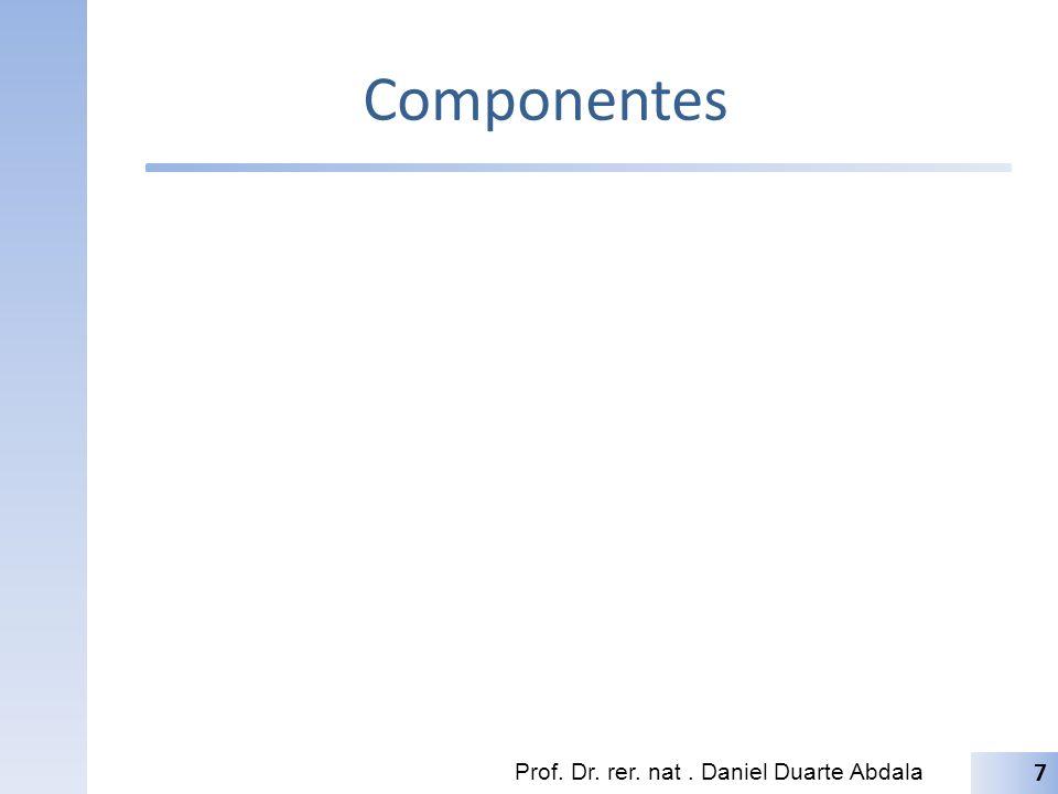 Componentes Prof. Dr. rer. nat. Daniel Duarte Abdala 7