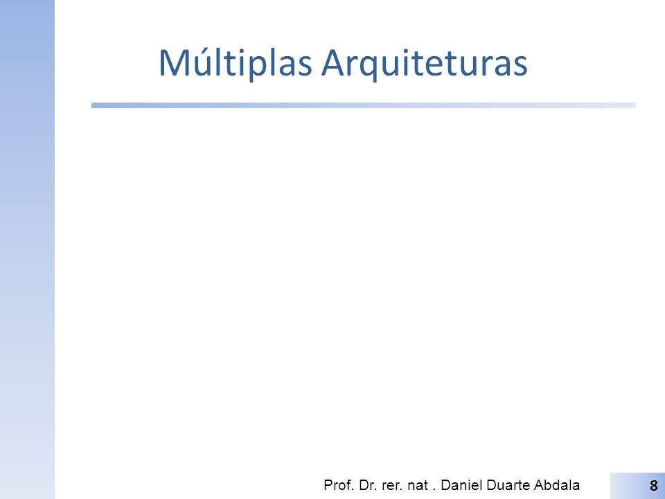 Múltiplas Arquiteturas Prof. Dr. rer. nat. Daniel Duarte Abdala 8