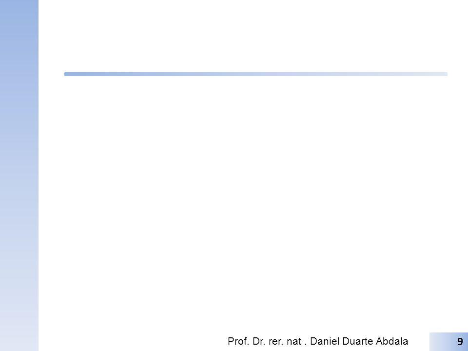 Pro Lar Leitura: (Tocci) () Exercícios: (Tocci): E={} Prof. Dr. rer. nat. Daniel Duarte Abdala 10