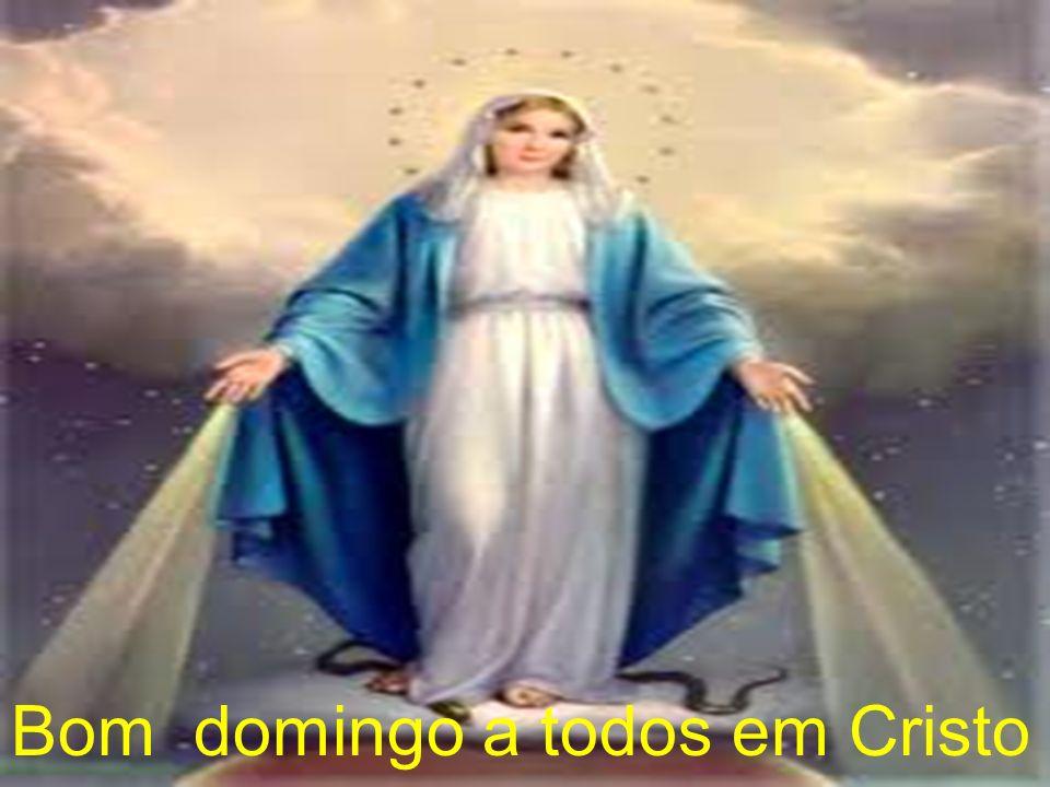 Bom domingo a todos em Cristo