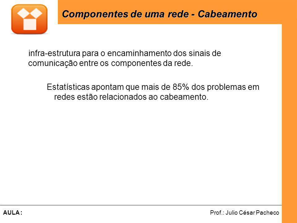 Ferramentas de Desenvolvimento Web Prof.: Julio César PachecoAULA : infra-estrutura para o encaminhamento dos sinais de comunicação entre os componentes da rede.