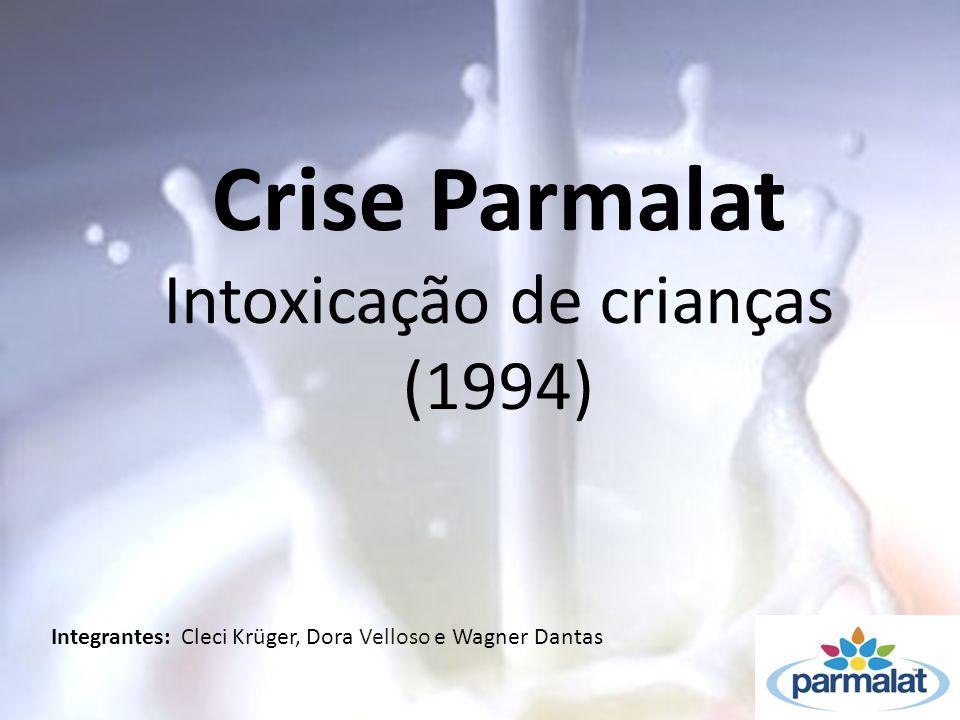 Crise Parmalat Intoxicação de crianças (1994) Integrantes: Cleci Krüger, Dora Velloso e Wagner Dantas