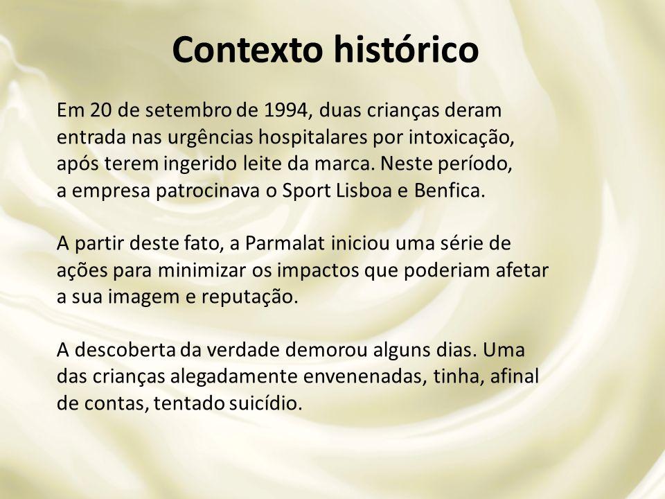 Em 20 de setembro de 1994, duas crianças deram entrada nas urgências hospitalares por intoxicação, após terem ingerido leite da marca. Neste período,