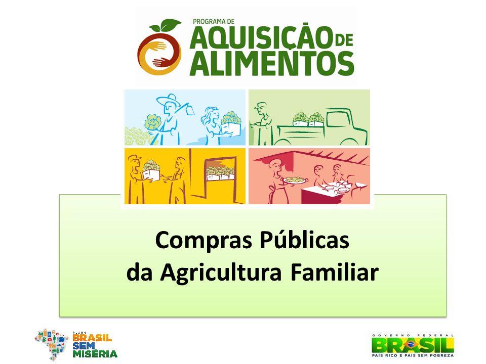 Compras Públicas da Agricultura Familiar Compras Públicas da Agricultura Familiar