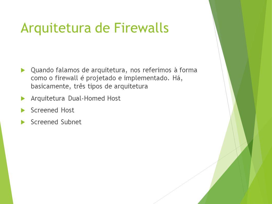 Quando falamos de arquitetura, nos referimos à forma como o firewall é projetado e implementado.