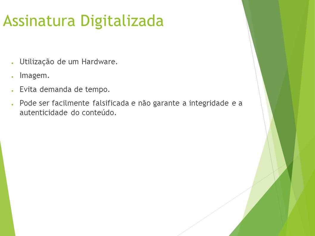 Assinatura Digitalizada Utilização de um Hardware.