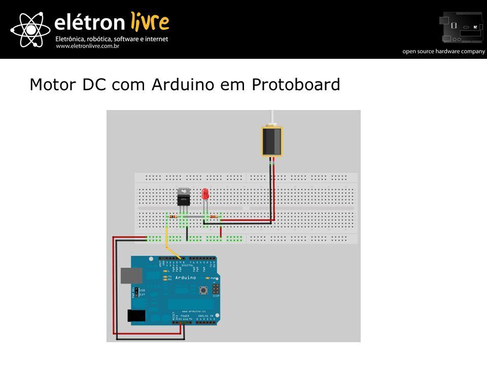 Motor DC com Arduino em Protoboard