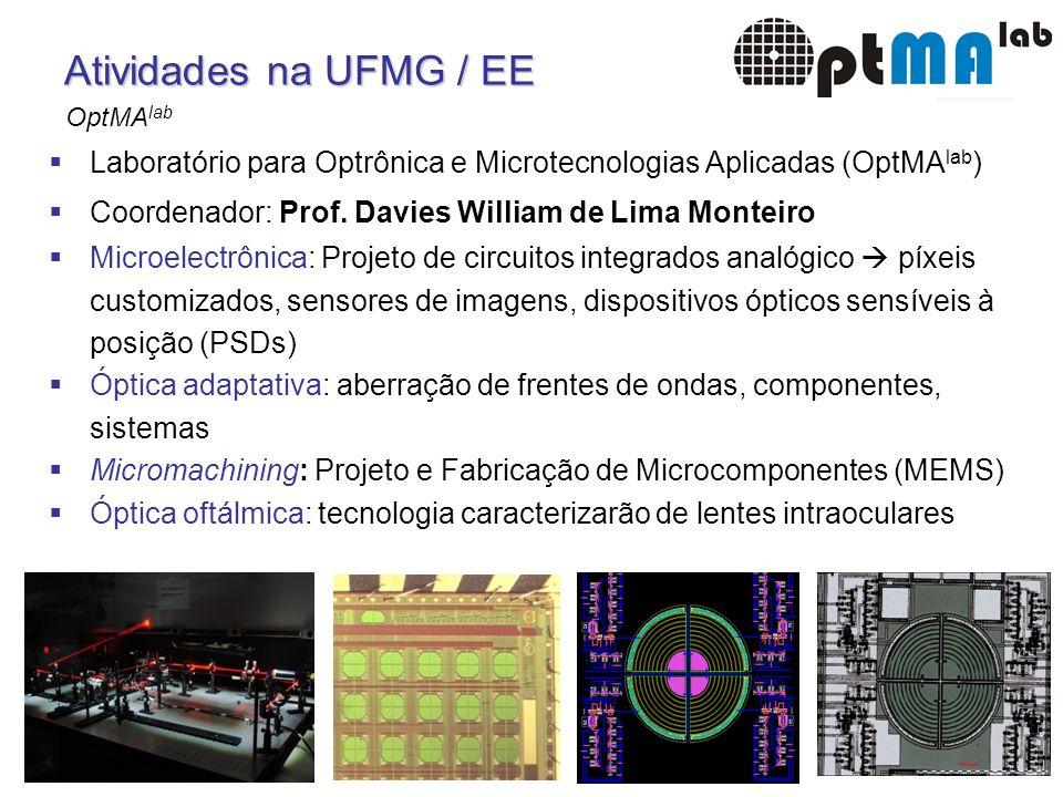 15 Sill Torres: Certificado em Microeletrônica Atividades na UFMG / EE Laboratório para Optrônica e Microtecnologias Aplicadas (OptMA lab ) Coordenado