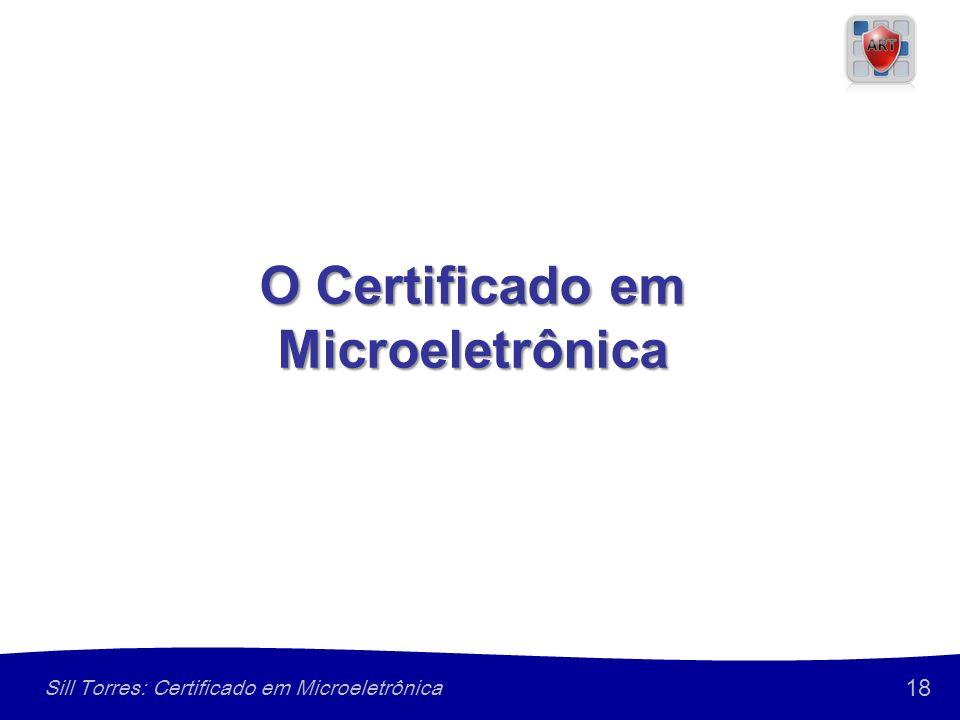18 Sill Torres: Certificado em Microeletrônica O Certificado em Microeletrônica