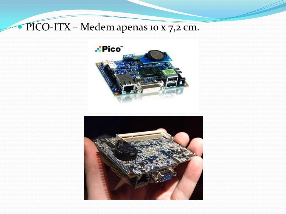 PICO-ITX – Medem apenas 10 x 7,2 cm.