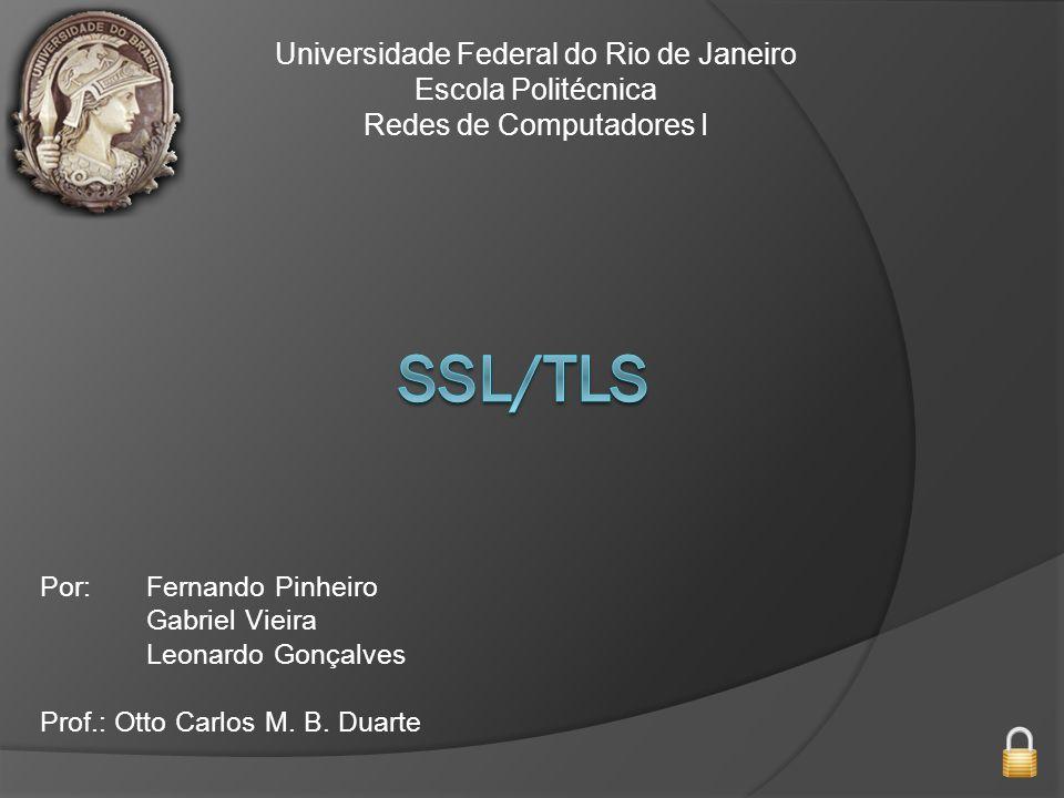 SSL/TLS Principais Diferenças Possuem normas técnicas diferentes TLS trabalha em portas diferentes TLS possui algoritmos de criptografia mais fortes TLS pode ser utilizado por uma autoridade intermediária