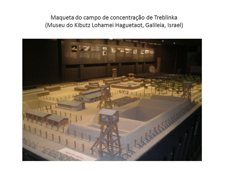 Maqueta do campo de concentração de Treblinka (Museu do Kibutz Lohamei Haguetaot, Galileia, Israel)