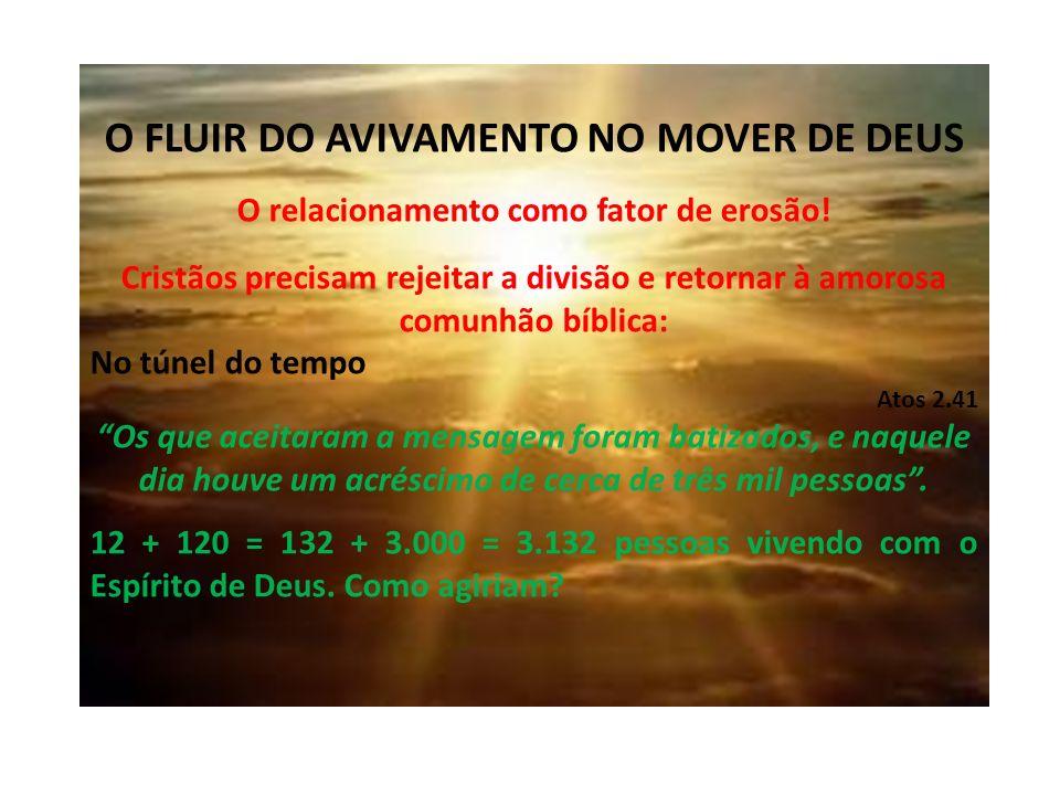 O FLUIR DO AVIVAMENTO NO MOVER DE DEUS O relacionamento como fator de erosão.